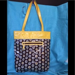Vera Bradley's Frills Design Tote / Brown & Yellow